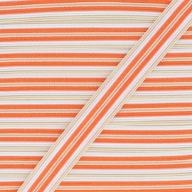 15 mm Lingerie Elastic Bias - Orange Arlequin x 1m