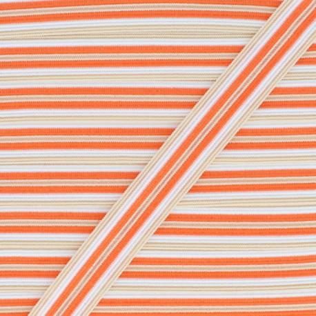 15 mm Lingerie Elastic Bias - Orange Arlequin x 1m