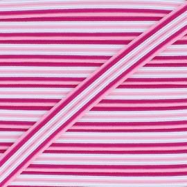 15 mm Lingerie Elastic Bias - Pink Arlequin x 1m