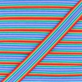 15 mm Lingerie Elastic Bias - Rainbow Arlequin x 1m