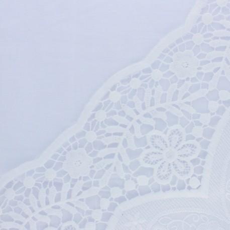 Tissu viscose brodé festonné Puntilla - noir x 10 cm