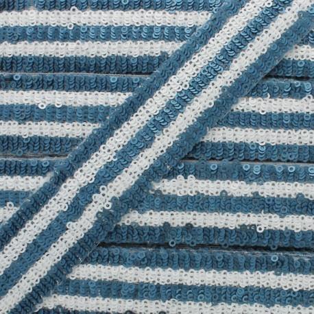 Galon Paillettes Yuna 30 mm - Bleu x 50cm