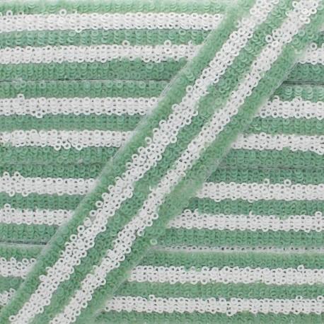 Galon Paillettes Yuna 30 mm - Vert Sauge x 50cm