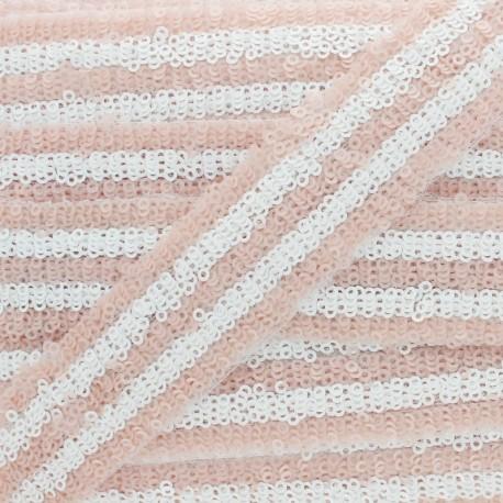 Galon Paillettes Yuna 30 mm - Pêche Rosée x 50cm
