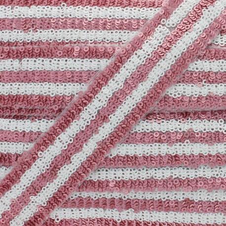 30 mm Sequin Braid Trimming - Cherry Yuna x 50cm