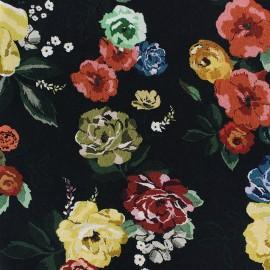 Tissu Viscose Vanda - noir x 10cm
