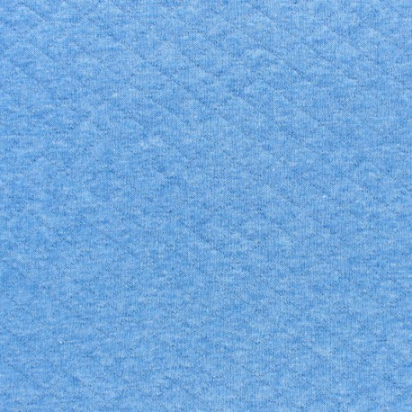 Quilted jersey fabric Diamonds 10/20 - mottled light blue x 10cm