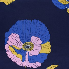 Tissu Crêpe Viscose Rosalia - bleu marine x 10cm