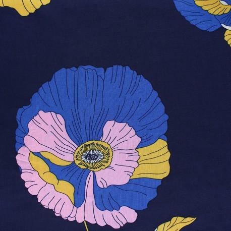 Tissu Viscose Rosabella - bleu marine x 10cm