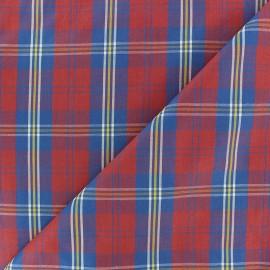 Tissu popeline Rob - bleu/rouge x10cm