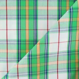 Tissu popeline Ronald - vert x 10cm