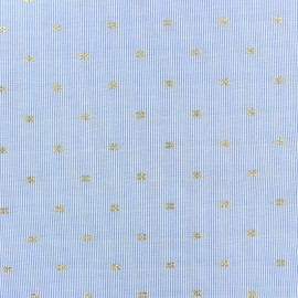 Poplin Cotton fabric - blue Lucille x 10cm