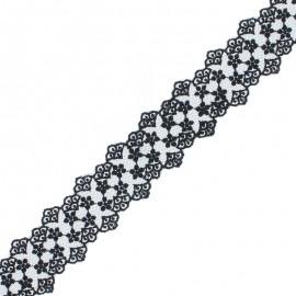 38 mm Lace Ribbon - Black Loren x 1m