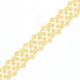 38 mm Lace Ribbon - Honey Loren x 1m