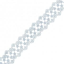 Ruban Dentelle Loren 38 mm - Gris x 1m