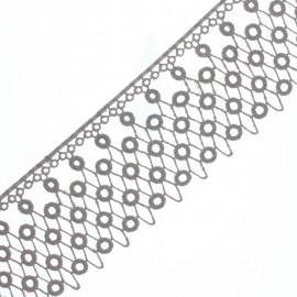 Guipure Kora 70 mm - Taupe x 50cm