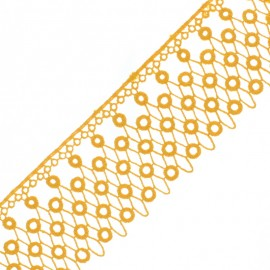 70 mm Guipure Lace - Honey Kora x 50cm