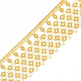 Guipure Kora 70 mm - Miel x 50cm