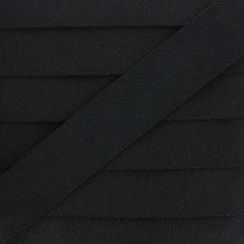 Plain Polyester Strap - Black x 1m