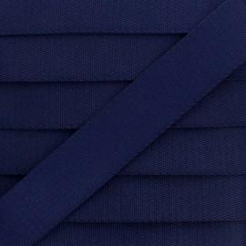 Plain Polyester Strap - Navy Blue x 1m