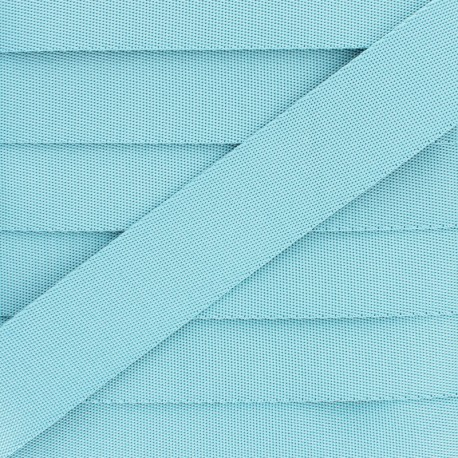 Plain Polyester Strap - Sky Blue x 1m
