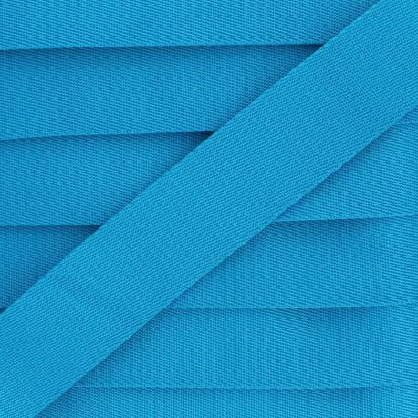 Plain Polyester Strap - Blue x 1m