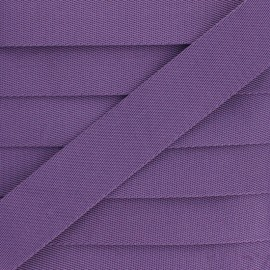 Plain Polyester Strap - Purple x 1m