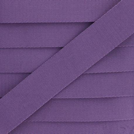 Plain Polyester Strap - Purple x 1m
