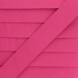 Plain Polyester Strap - Fuchsia x 1m