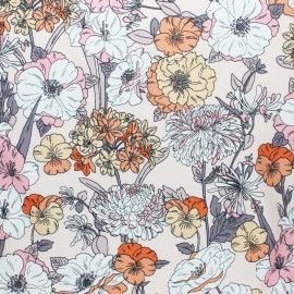 Tissu Viscose Albane - rose x 10cm