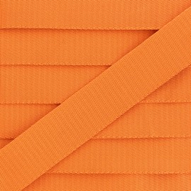 Plain Polyester Strap - Orange x 1m