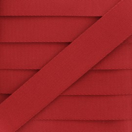 Plain Polyester Strap - Red x 1m