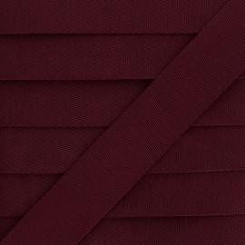Plain Polyester Strap - Burgundy x 1m