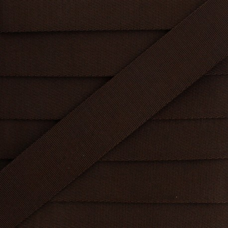 Plain Polyester Strap - Brown x 1m
