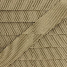 Plain Polyester Strap - Taupe x 1m
