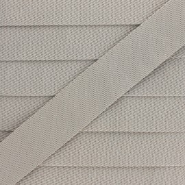 Plain Polyester Strap - Clay Grey x 1m