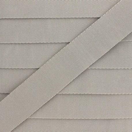Plain Polyester Strap - Clay Grey x 1m