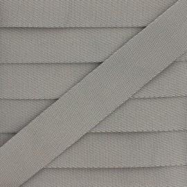 Plain Polyester Strap - Grey x 1m