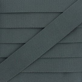 Plain Polyester Strap - Steel Grey x 1m