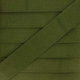 Plain Polyester Strap - Green x 1m
