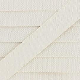 Plain Polyester Strap - Cream x 1m