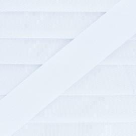 Plain Polyester Strap - White x 1m