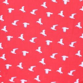 Tissu Viscose Mouettes - rouge x 10cm