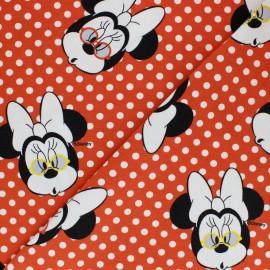 Cotton jersey fabric - Red Minnie Surprise x 10cm