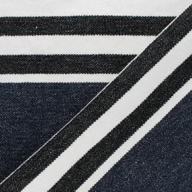 Tissu coton tissé Chowpatty - bleu marine x 10cm