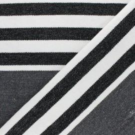 Tissu coton tissé Chowpatty - gris x 10cm
