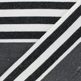 Canva cotton Fabric - dark grey Chowpatty x 10 cm