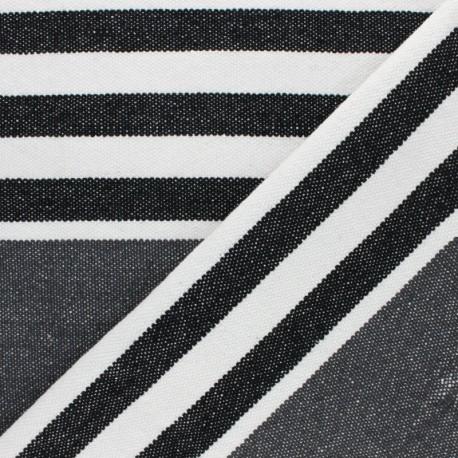 Canva cotton Fabric - grey Chowpatty x 10 cm
