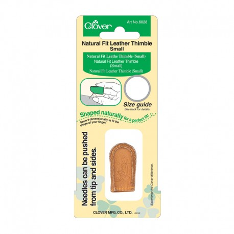 Natural Fit Leather Thimble - Clover