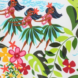 Tissu coton enduit Alexander Henry - Leis, Luaus & alohas x 35cm